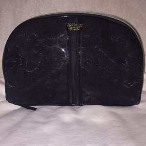 Black Lacey Victoria Secert cosmetic bag